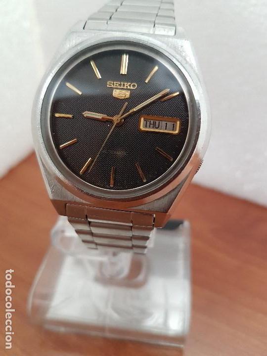 Relojes - Seiko: Reloj de caballero (Vintage) Seiko automático 21 rubis con doble calendario a las tres calibre 7009A - Foto 11 - 169818914