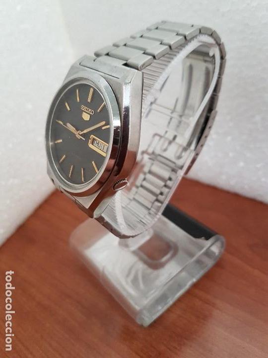 Relojes - Seiko: Reloj de caballero (Vintage) Seiko automático 21 rubis con doble calendario a las tres calibre 7009A - Foto 15 - 169818914