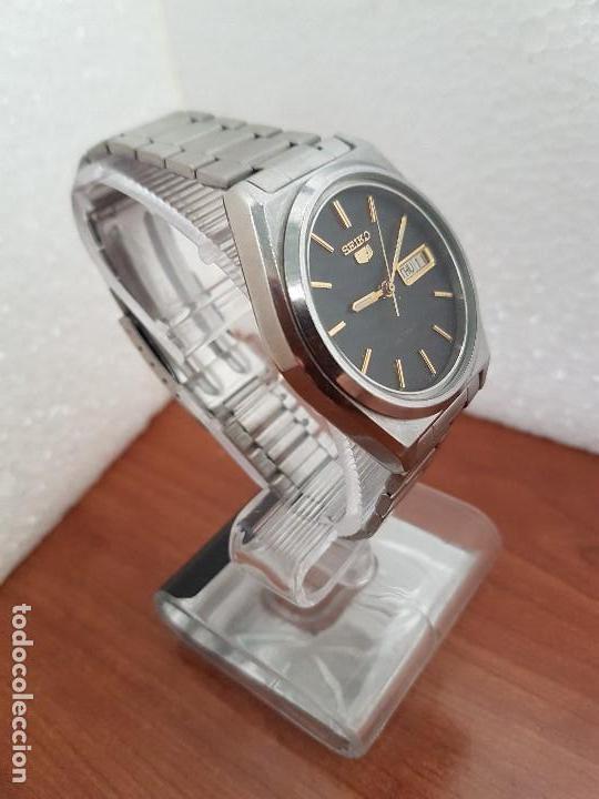 Relojes - Seiko: Reloj de caballero (Vintage) Seiko automático 21 rubis con doble calendario a las tres calibre 7009A - Foto 17 - 169818914