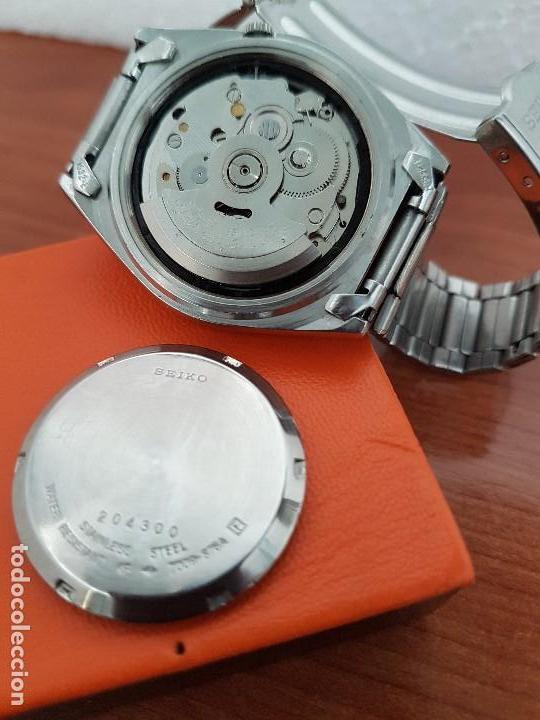 Relojes - Seiko: Reloj de caballero (Vintage) Seiko automático 21 rubis con doble calendario a las tres calibre 7009A - Foto 18 - 169818914