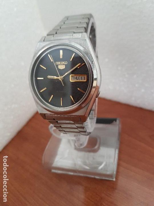Relojes - Seiko: Reloj de caballero (Vintage) Seiko automático 21 rubis con doble calendario a las tres calibre 7009A - Foto 19 - 169818914