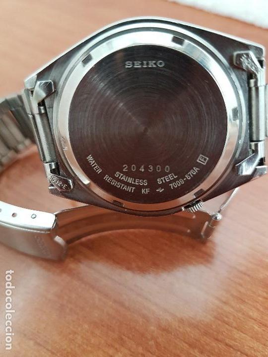 Relojes - Seiko: Reloj de caballero (Vintage) Seiko automático 21 rubis con doble calendario a las tres calibre 7009A - Foto 22 - 169818914