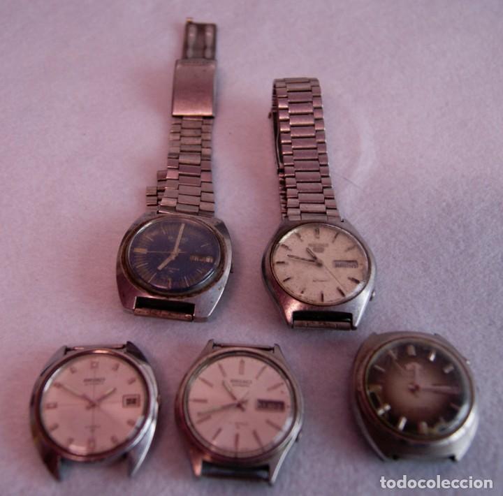LOTE DE 4 SEIKO AUTOMATICO Y 1 ORIENT AUTOMATICO REVISAR F60 (Relojes - Relojes Actuales - Seiko)