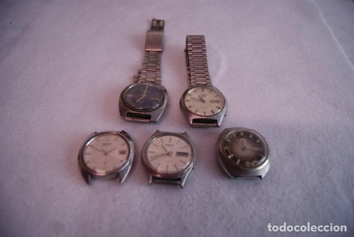 Relojes - Seiko: LOTE DE 4 SEIKO AUTOMATICO Y 1 ORIENT AUTOMATICO REVISAR F60 - Foto 2 - 170333624