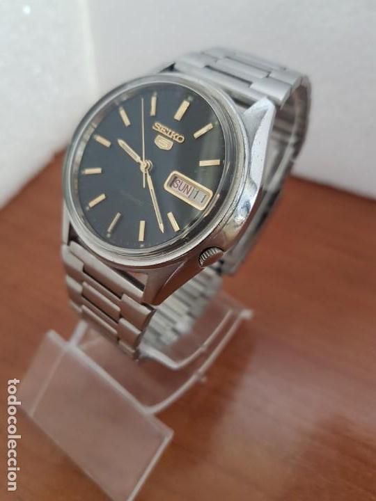 Relojes - Seiko: Reloj de caballero (Vintage) Seiko automático 17 rubis con doble calendario a las tres calibre 7009A - Foto 3 - 171141762