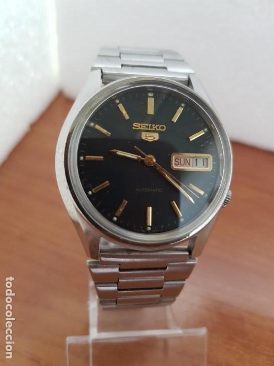 Relojes - Seiko: Reloj de caballero (Vintage) Seiko automático 17 rubis con doble calendario a las tres calibre 7009A - Foto 6 - 171141762