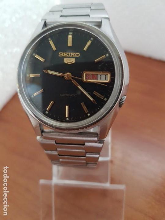 Relojes - Seiko: Reloj de caballero (Vintage) Seiko automático 17 rubis con doble calendario a las tres calibre 7009A - Foto 7 - 171141762