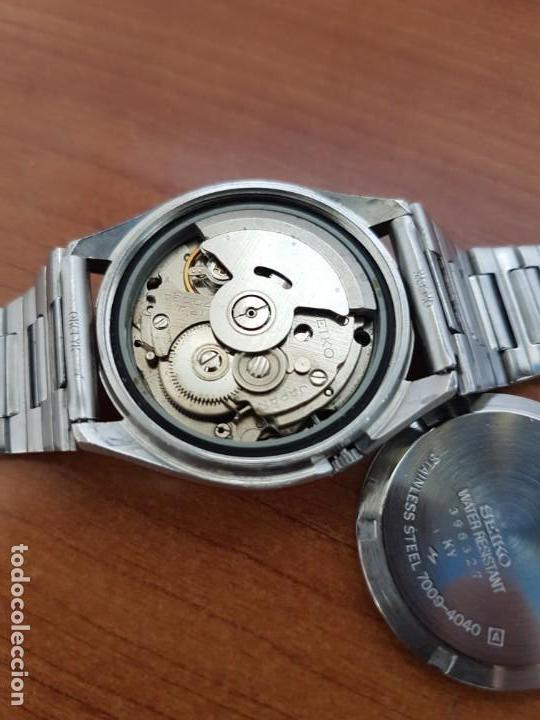 Relojes - Seiko: Reloj de caballero (Vintage) Seiko automático 17 rubis con doble calendario a las tres calibre 7009A - Foto 9 - 171141762