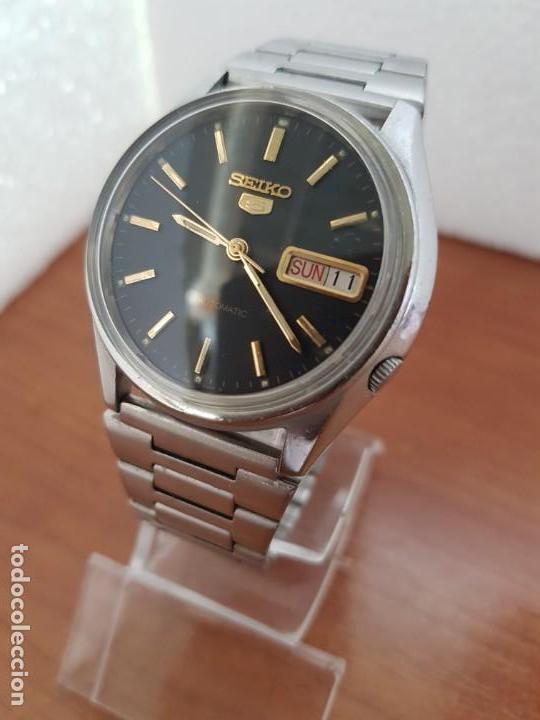 Relojes - Seiko: Reloj de caballero (Vintage) Seiko automático 17 rubis con doble calendario a las tres calibre 7009A - Foto 10 - 171141762