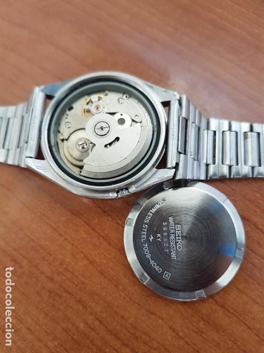 Relojes - Seiko: Reloj de caballero (Vintage) Seiko automático 17 rubis con doble calendario a las tres calibre 7009A - Foto 11 - 171141762