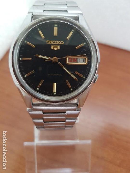 Relojes - Seiko: Reloj de caballero (Vintage) Seiko automático 17 rubis con doble calendario a las tres calibre 7009A - Foto 12 - 171141762