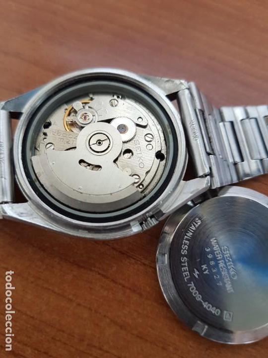 Relojes - Seiko: Reloj de caballero (Vintage) Seiko automático 17 rubis con doble calendario a las tres calibre 7009A - Foto 13 - 171141762