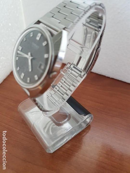 Relojes - Seiko: Reloj caballero (Vintage) SEIKO acero, calendario a las tres, esfera negra, correa acero original - Foto 2 - 171167992
