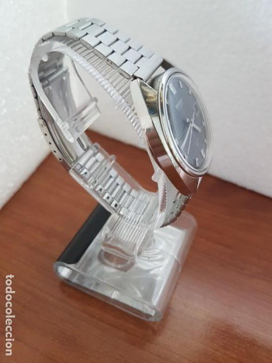 Relojes - Seiko: Reloj caballero (Vintage) SEIKO acero, calendario a las tres, esfera negra, correa acero original - Foto 4 - 171167992