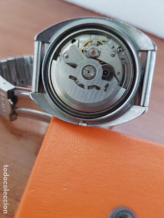 Relojes - Seiko: Reloj caballero (Vintage) SEIKO acero, calendario a las tres, esfera negra, correa acero original - Foto 7 - 171167992