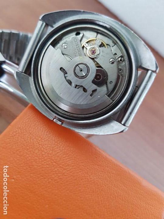 Relojes - Seiko: Reloj caballero (Vintage) SEIKO acero, calendario a las tres, esfera negra, correa acero original - Foto 9 - 171167992