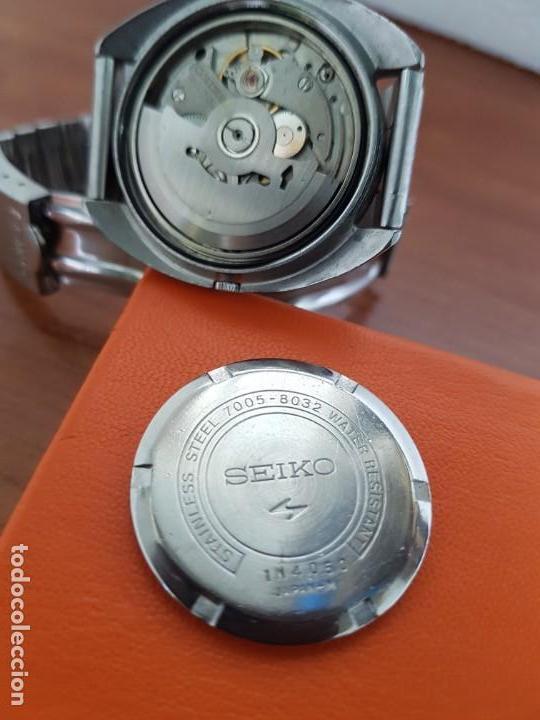 Relojes - Seiko: Reloj caballero (Vintage) SEIKO acero, calendario a las tres, esfera negra, correa acero original - Foto 11 - 171167992