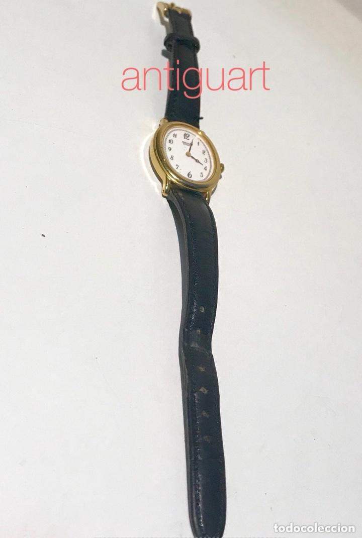 Relojes - Seiko: Reloj de pulsera de mujer Seiko Quartz. Pulsera piel negra. Funciona, solo falta cambio pila. - Foto 3 - 172761498