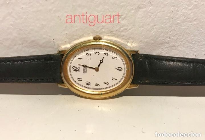 Relojes - Seiko: Reloj de pulsera de mujer Seiko Quartz. Pulsera piel negra. Funciona, solo falta cambio pila. - Foto 4 - 172761498