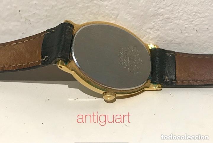Relojes - Seiko: Reloj de pulsera de mujer Seiko Quartz. Pulsera piel negra. Funciona, solo falta cambio pila. - Foto 5 - 172761498