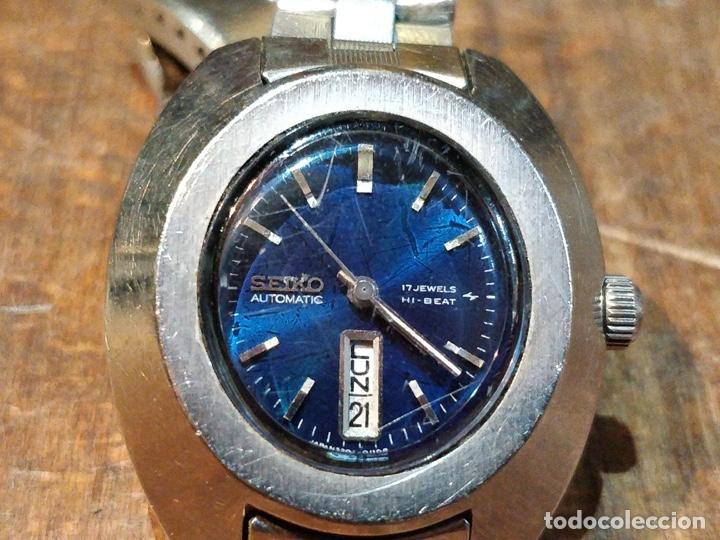 Relojes - Seiko: Reloj de pulsera Seiko automático para señora. Correa de acero. Setentero - Foto 3 - 41677294