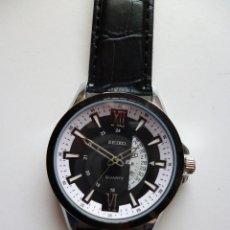 Relojes - Seiko: SEIKO PAELLERA NEGRO QUARTZ NUEVO. Lote 175715168