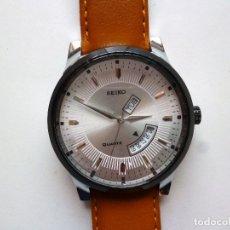 Relojes - Seiko: SEIKO GRIS QUARTZ NUEVO DE TRASTIENDA 45MM DIAMETRO.. Lote 177882654
