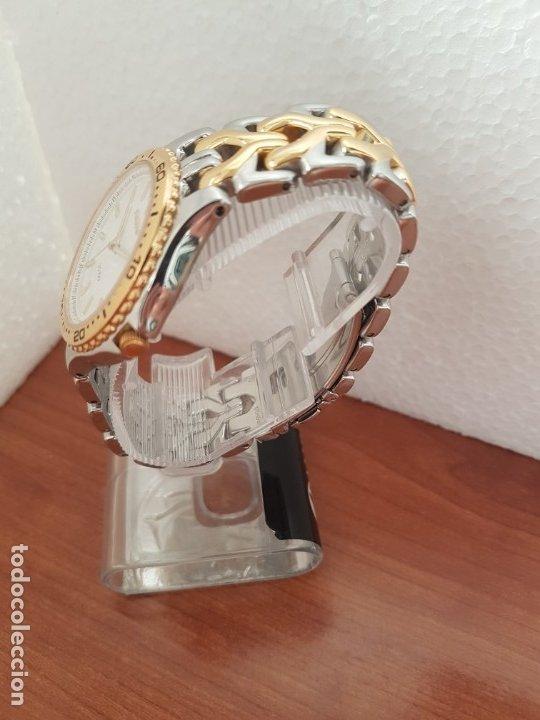 Relojes - Seiko: Reloj caballero (Vintage) SEIKO de cuarzo acero bicolor con calendario a las tres, correa original - Foto 6 - 178223250