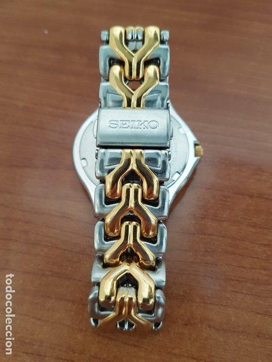 Relojes - Seiko: Reloj caballero (Vintage) SEIKO de cuarzo acero bicolor con calendario a las tres, correa original - Foto 17 - 178223250