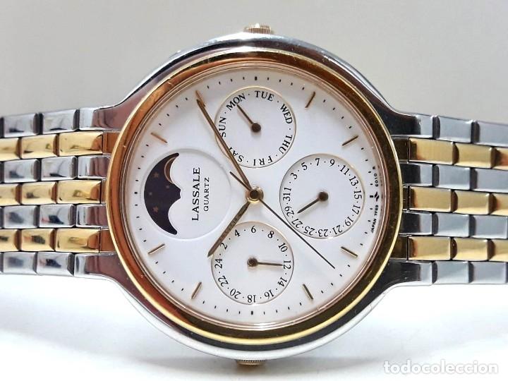 PRECIOSO RELOJ LASSALE AÑOS 80 DE CUARZO Y ACERO BICOLOR CALIBRE 7F69 CON FASE LUNAR Y NUEVO (Relojes - Relojes Actuales - Seiko)