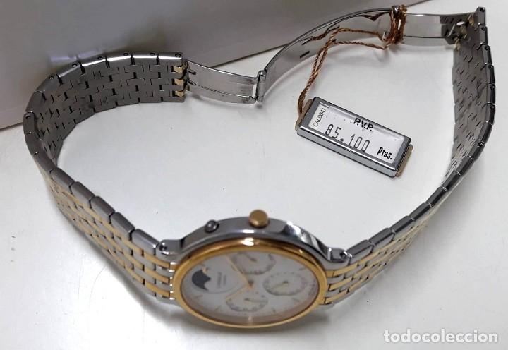 Relojes - Seiko: PRECIOSO RELOJ LASSALE AÑOS 80 DE CUARZO Y ACERO BICOLOR CALIBRE 7F69 CON FASE LUNAR Y NUEVO - Foto 4 - 181396070