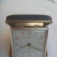 Relojes - Seiko: ANTIGUO RELOJ DESPERTADOR DE VIAJE DE SEIKO. MADE IN JAPAN. Lote 181432235