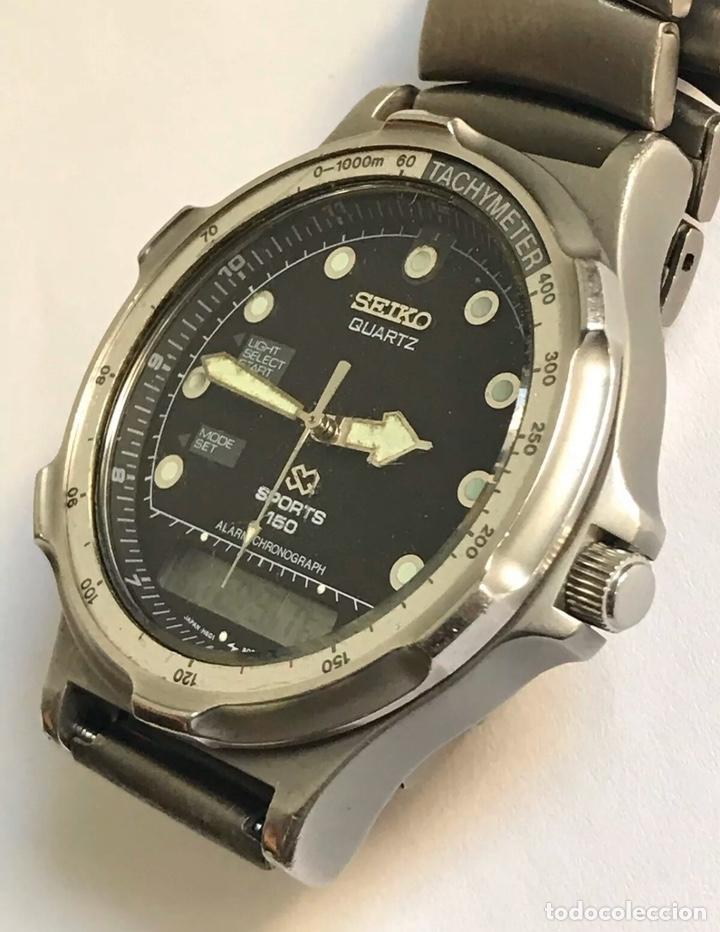 Relojes - Seiko: Reloj SEIKO H601-8020 SPORTS 150 Alarm Chronograph QUARTZ JAPAN - Foto 3 - 181956110
