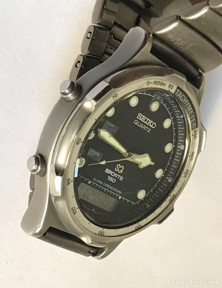 Relojes - Seiko: Reloj SEIKO H601-8020 SPORTS 150 Alarm Chronograph QUARTZ JAPAN - Foto 4 - 181956110