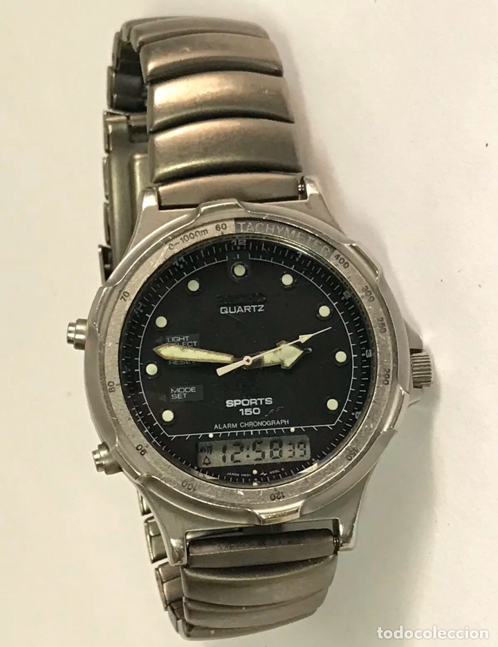 Relojes - Seiko: Reloj SEIKO H601-8020 SPORTS 150 Alarm Chronograph QUARTZ JAPAN - Foto 5 - 181956110