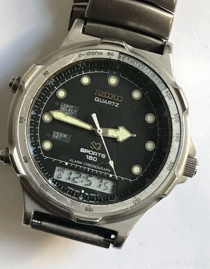 RELOJ SEIKO H601-8020 SPORTS 150 ALARM CHRONOGRAPH QUARTZ JAPAN (Relojes - Relojes Actuales - Seiko)