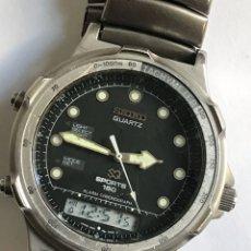 Relojes - Seiko: RELOJ SEIKO H601-8020 SPORTS 150 ALARM CHRONOGRAPH QUARTZ JAPAN. Lote 181956110