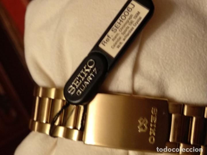 Relojes - Seiko: reloj Seiko 150 sports nuevo a estrenar caja garantía instrucciones modelo 7t34-6a00 vintage dorado - Foto 3 - 182102368