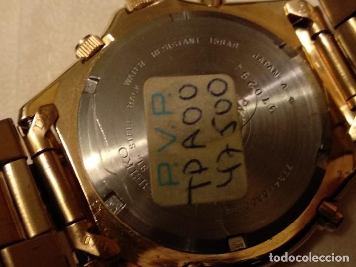 Relojes - Seiko: reloj Seiko 150 sports nuevo a estrenar caja garantía instrucciones modelo 7t34-6a00 vintage dorado - Foto 4 - 182102368