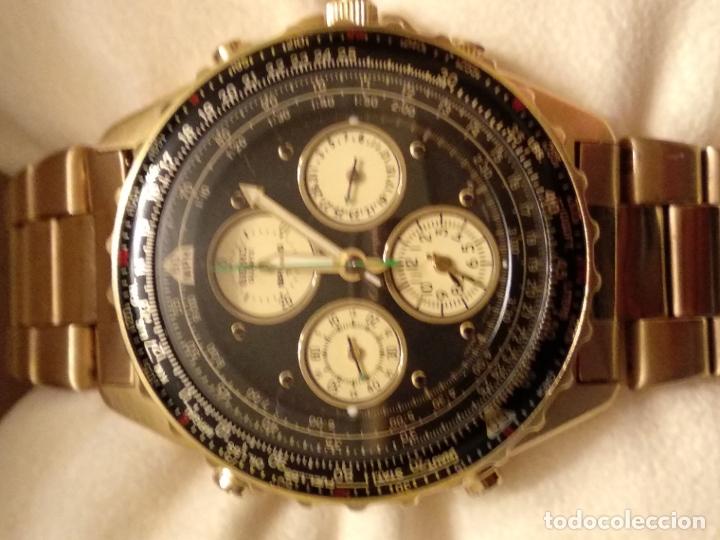 Relojes - Seiko: reloj Seiko 150 sports nuevo a estrenar caja garantía instrucciones modelo 7t34-6a00 vintage dorado - Foto 8 - 182102368
