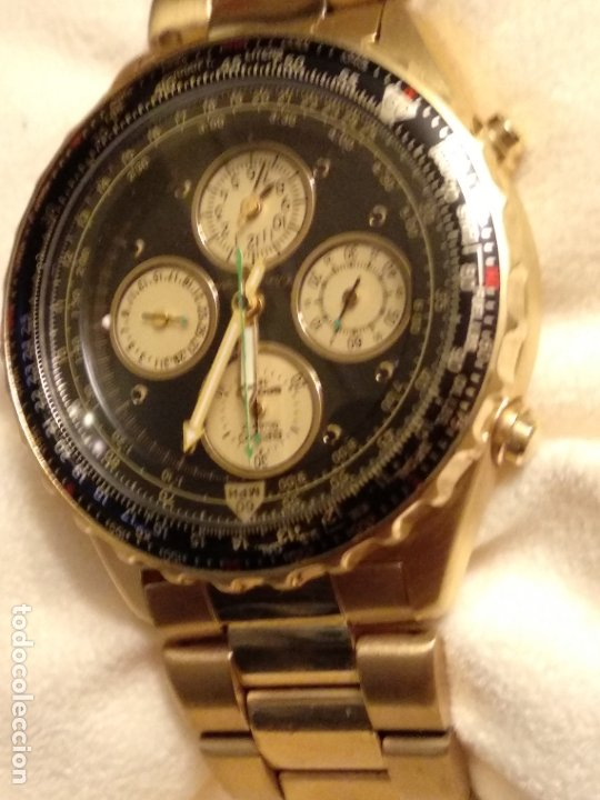 Relojes - Seiko: reloj Seiko 150 sports nuevo a estrenar caja garantía instrucciones modelo 7t34-6a00 vintage dorado - Foto 9 - 182102368