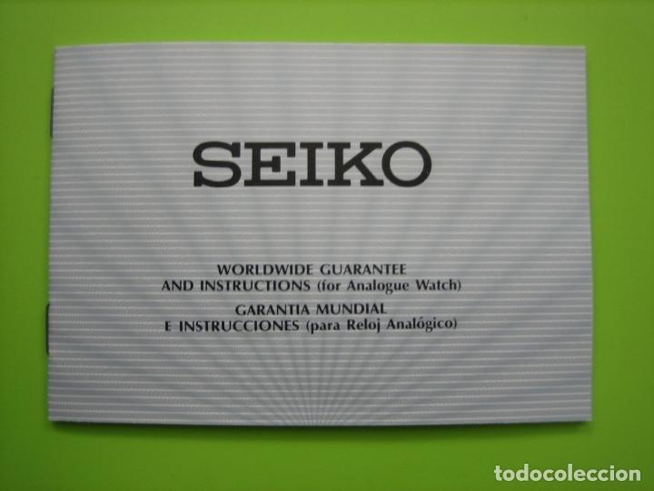 MANUAL DE RELOJ SEIKO (Relojes - Relojes Actuales - Seiko)