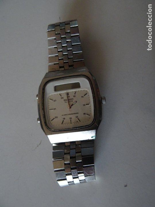 Relojes - Seiko: ANTIGUO RELOJ SEIKO QUARTZ ALARMA - CRONOMETRO - Foto 2 - 182602453