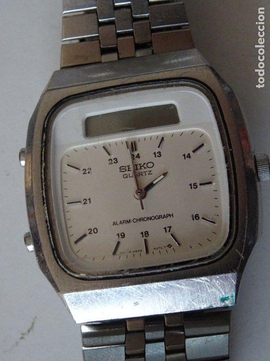 ANTIGUO RELOJ SEIKO QUARTZ ALARMA - CRONOMETRO (Relojes - Relojes Actuales - Seiko)