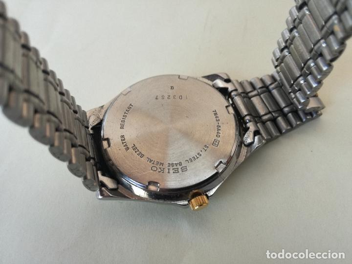 Relojes - Seiko: RELOJ VINTAGE SEIKO 7N43-6A40 (A4) - RELOJ PAR AHOMBRE - FUNCIONANDO PERFECTAMENTE - Foto 8 - 182894206