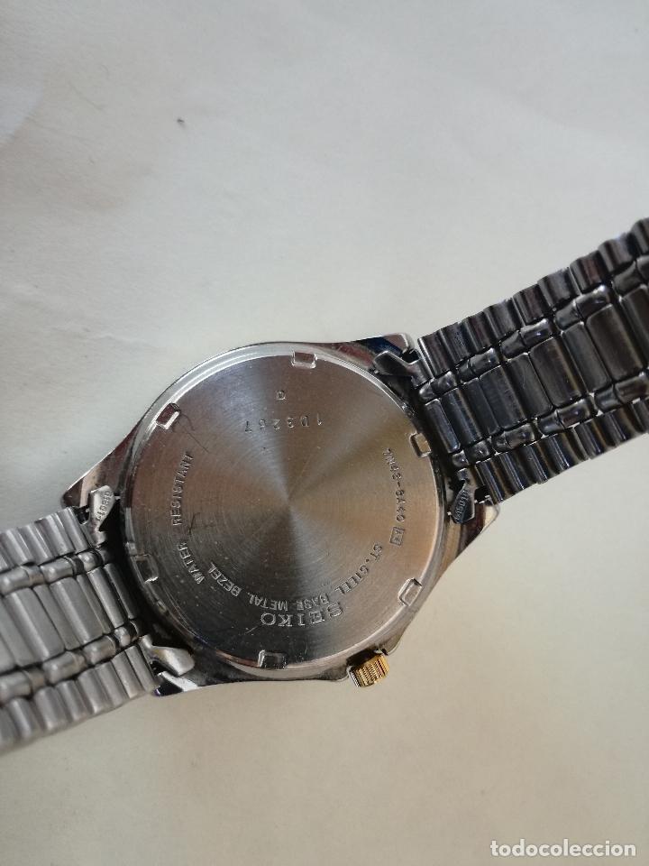 Relojes - Seiko: RELOJ VINTAGE SEIKO 7N43-6A40 (A4) - RELOJ PAR AHOMBRE - FUNCIONANDO PERFECTAMENTE - Foto 9 - 182894206