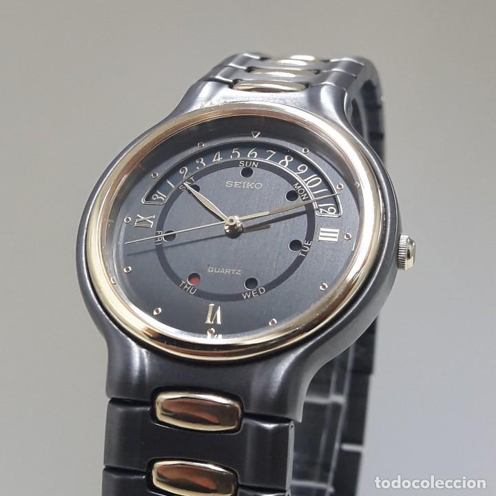 PRECIOSO RELOJ SEIKO BICOLOR AÑOS 80 DE CUARZO Y NUEVO (Relojes - Relojes Actuales - Seiko)