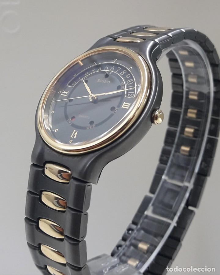 Relojes - Seiko: PRECIOSO RELOJ SEIKO BICOLOR AÑOS 80 DE CUARZO Y NUEVO - Foto 2 - 184042041