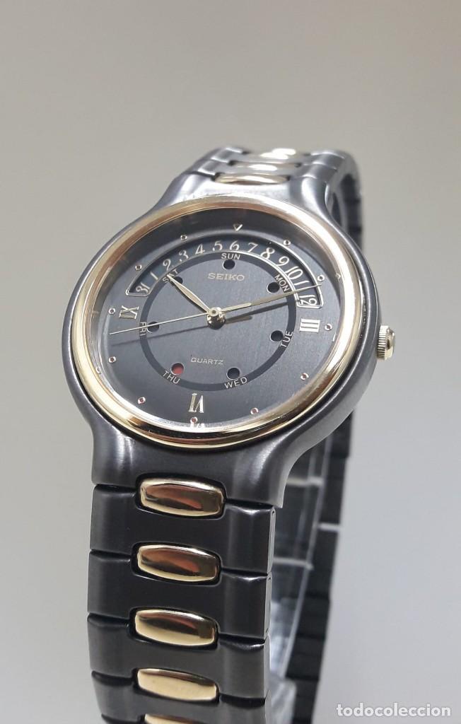 Relojes - Seiko: PRECIOSO RELOJ SEIKO BICOLOR AÑOS 80 DE CUARZO Y NUEVO - Foto 3 - 184042041