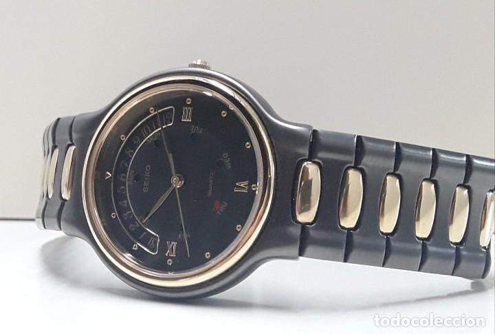 Relojes - Seiko: PRECIOSO RELOJ SEIKO BICOLOR AÑOS 80 DE CUARZO Y NUEVO - Foto 5 - 184042041